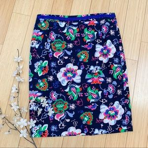 Boden floral pencil skirt, 8.